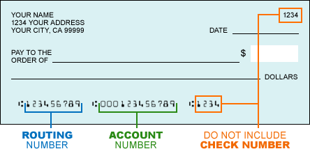 Web Pay | Bank Account and Routing Number Information | California